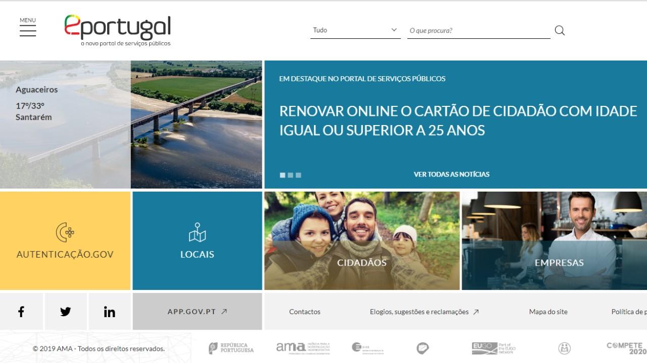 eportugal – portal de serviços públicos