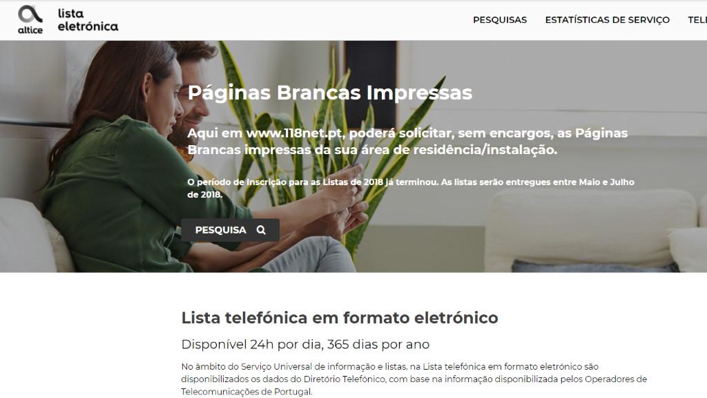 118net.pt – Lista Telefónica Online
