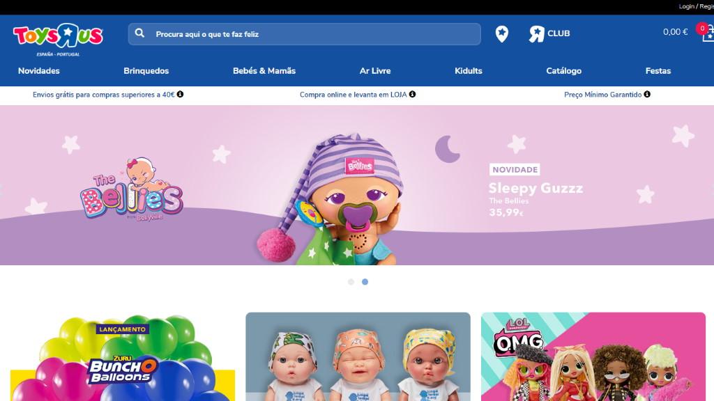 Toysrus – loja de brinquedos e vídeojogos