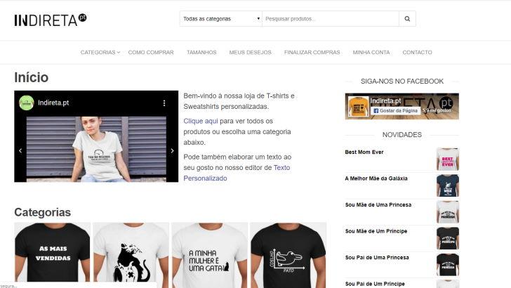 indireta.pt - T-shirts personalizadas para todos